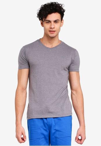 Penshoppe 灰色 短袖素色T恤 6F4C2AA4A63C16GS_1