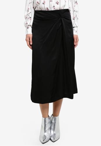 Mango black Decorative Knot Skirt MA193AA0S6J4MY_1