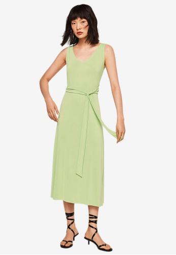 Mango green Bow Modal Dress BC337AA3E0A89BGS_1