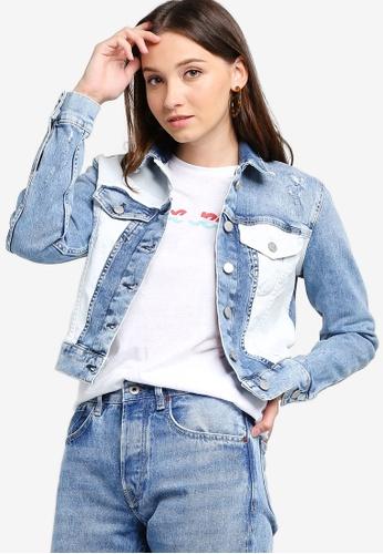 1c2478b876 Buy Pepe Jeans Tess Mix Denim Jacket Online on ZALORA Singapore