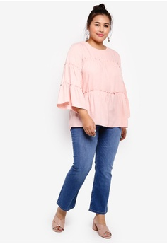 599751782 17% OFF Lubna Frill Tiered Top S$ 29.90 NOW S$ 24.90 Sizes XXL XXXL XXXXL  XXXXXL