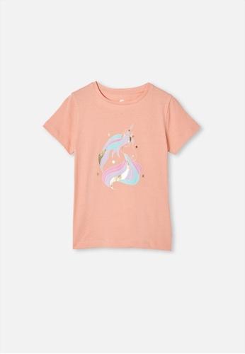 Cotton On Kids orange Penelope Short Sleeve Tee 6BDE4KA6C4223DGS_1