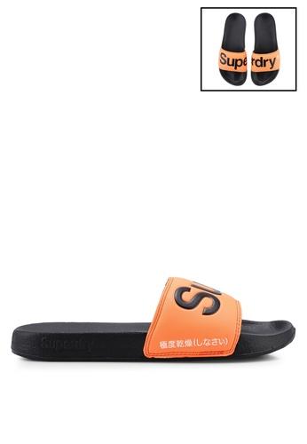 SUPERDRY 黑色 Superdry Pool Slides E4129SHACCFCC2GS_1