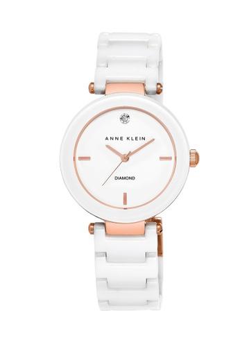Anne Klein white Anne Klein Ladies - Diamond Dial Ceramic Watch - AK-1018RGWT AN844AC0RGS2MY_1