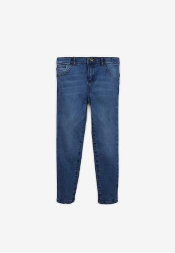 Gingersnaps blue Boys Denim Pants With Chevron Embro B58CEKA33C802BGS_1