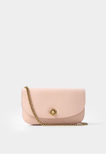 Rabeanco pink RABEANCO Chain Clutch - Smooth Pink DD3E5AC1928820GS_1