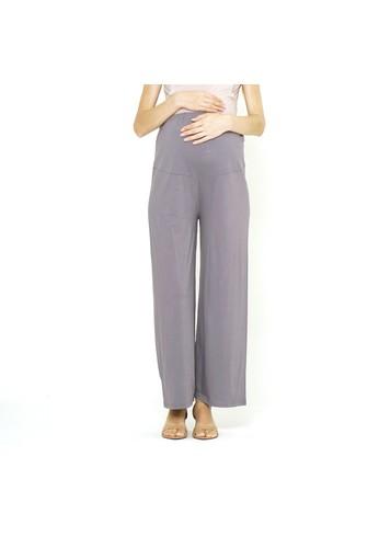 Mamibelle Nursingwear grey Mamibelle Kumala Grey Celana Kulot Ibu Hamil Spandex Rayon Premium 9E54FAAF9137A5GS_1