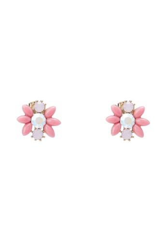 寶石花卉耳環, 飾esprit hk office品配件, 飾品配件