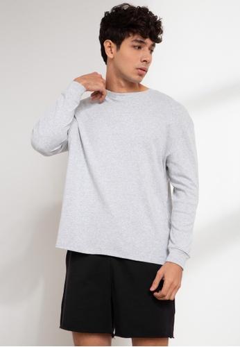Origin by Zalora grey Organic Cotton Long Sleeve T-shirt 883FBAA4B672D5GS_1