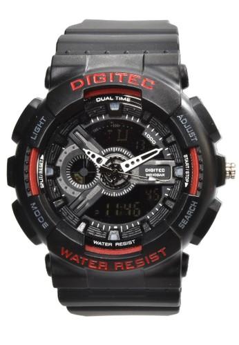 Digitec black Digitec - Jam Tangan Pria - Black - Resin Strap - DG2020-C E0DE8AC63CE7F8GS_1