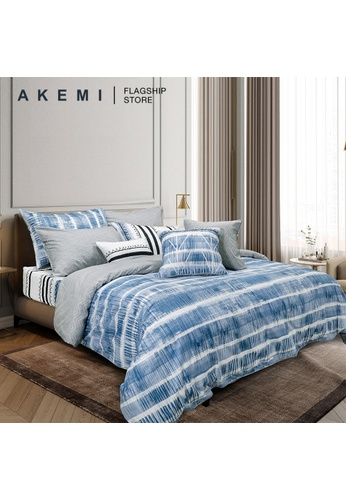 AKEMI blue AKEMI Cotton Select Affluence - Jelteon (Fitted Sheet Set). 14BD0HLB7A1AB0GS_1