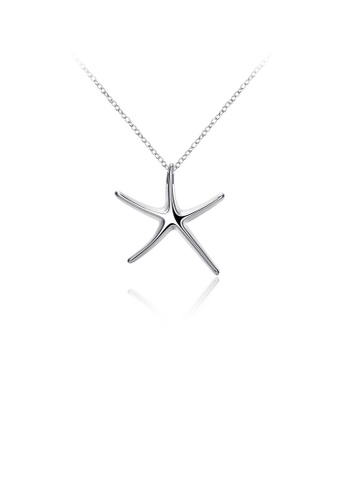 Glamorousky silver Simple and Fashion Star Pendant with Necklace F5A0CAC6AE9D9DGS_1