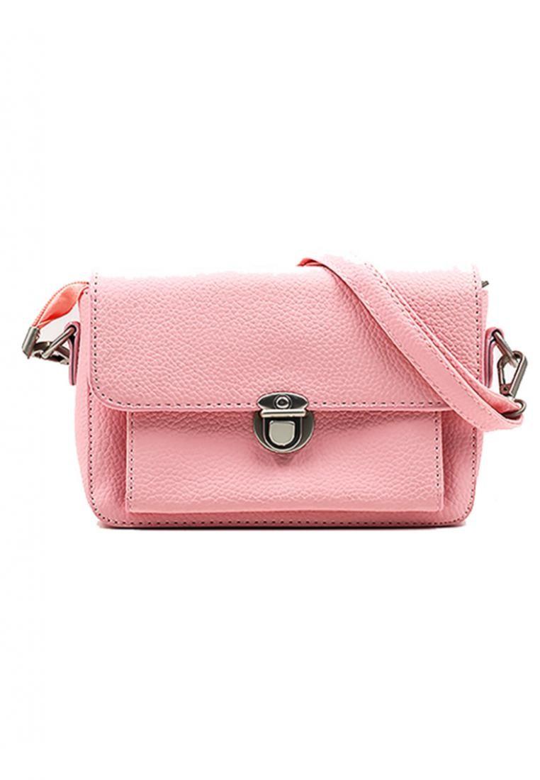 Vintage Paris Bridget Cross Body Sling Bag (Flamingo Pink)