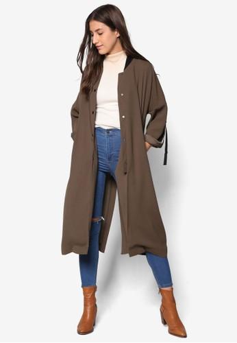 羅紋領單排扣大衣, esprit 品牌服飾, 服飾