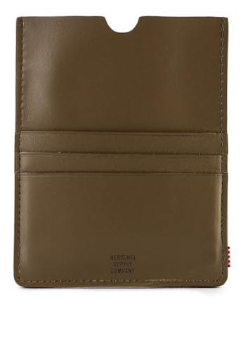 Herschel black Eugene Leather Passport Holder D245CAC2BA5729GS_1