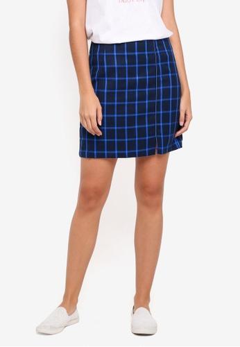 Pieces blue Isabel Mid Waist Skirt 6B6F9AA72917E2GS_1