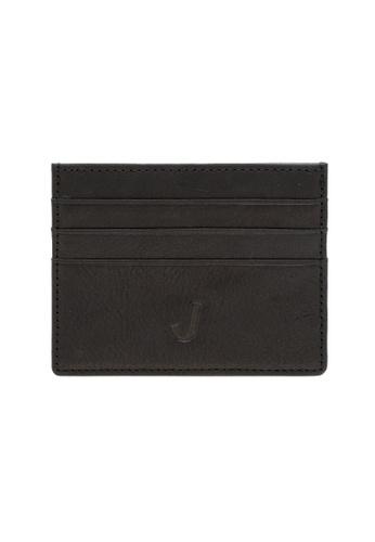 Jack Studio black Jack Studio Leather Slim Card Case D05DFAC0E3D81EGS_1