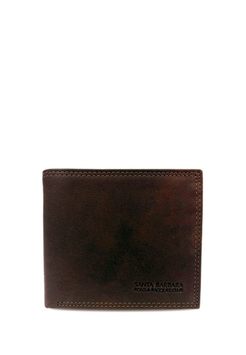 Santa Barbara Polo & Racquet Club brown Santa Barbara Polo & Racquet Club Leather Bifold Wallet SA678AC0H2R2SG_1