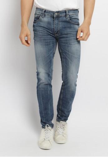 Osella blue Osella Celana Pria Jeans Slim Fit Medium Blue 60570AAAE23F41GS_1