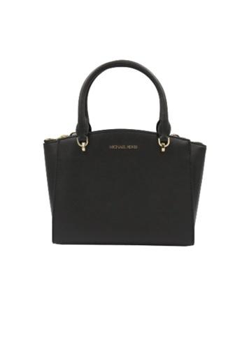 MICHAEL KORS black Michael Kors Large Ellis 38T9CE0S3L Convertible Satchel Bag In Black F645AACE86DE3EGS_1