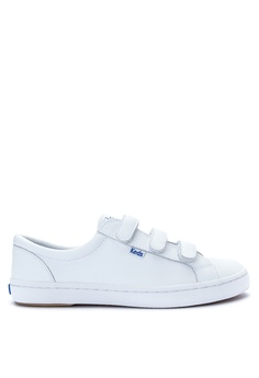 Keds white Tiebreak Leather Sneakers KE008SH0J38APH_1