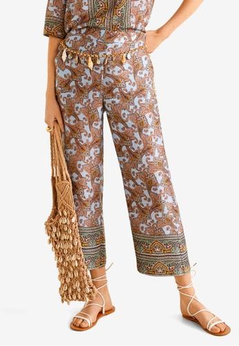 e4a03aa0a Buy Mango Paisley Print Trousers Online on ZALORA Singapore