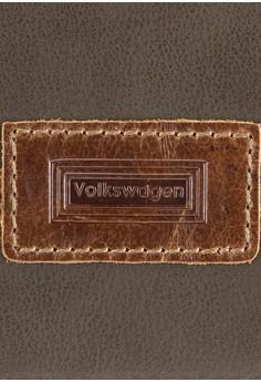 Volkswagen 真皮補丁對折皮夾