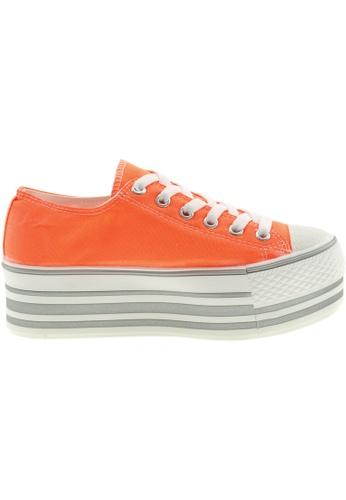Maxstar orange Maxstar Women's C50 6 Holes Platform Canvas Low Top Sneakers US Women Size MA164SH52PSHSG_1