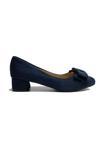 Zafiti navy Women's Bow Low Heels 6B9C8SH0A3F26FGS_1
