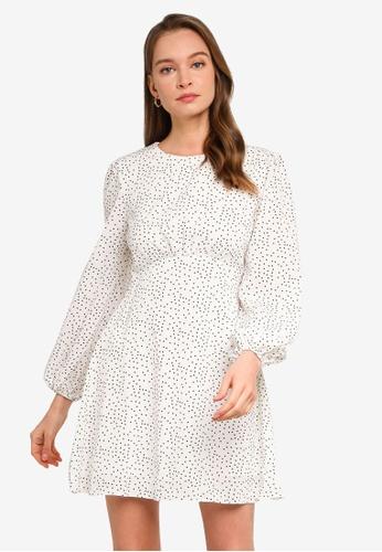 REUX white Kylie Mini Dress BC8FBAAE2130C8GS_1