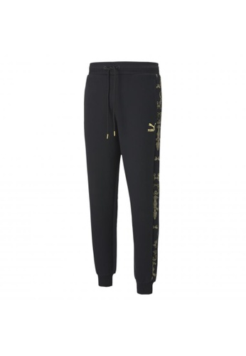 PUMA black PUMA Luxe Printed Men's Track Pants AB0FCAADFDD44AGS_1