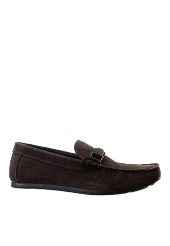 Hush Puppies brown Hush Puppies Men's Borgen Loafer - Coffee BA09FSH7D9F00CGS_1