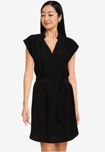 ONLY black Josey Short Sleeves Dress 0467DAAD6B648DGS_1