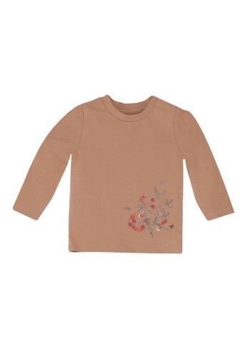 NAME IT brown Nanette Long Sleeves Tee DC940KA66C7359GS_1