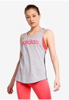 c3ac0ec9f4 adidas grey adidas essentials linear tank top 16B1BAA1FD59F4GS_1