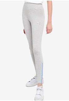 New Adidas Originals 3 stripes leggings running gym sport UK10 12 14 Womens Grey