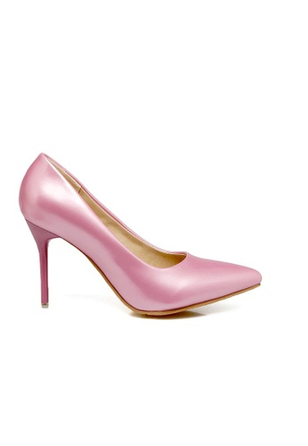 Lara 粉紅色 女裝漆皮尖頭高跟鞋 17BB7SHE2BE5F0GS_1