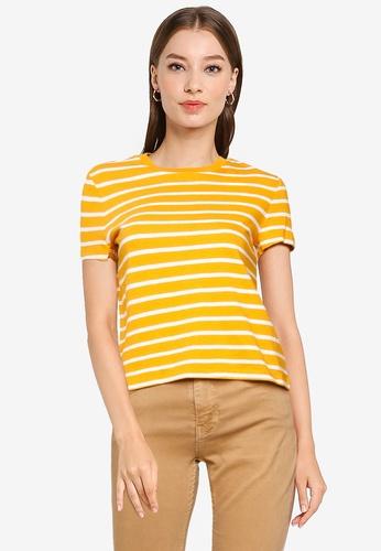 GAP yellow SS SHRUNKEN TEE STR B3AC5AA7965F3AGS_1