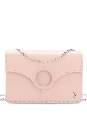 PLAYBOY BUNNY 粉紅色 Women's Sling Bag / Shoulder Bag / Crossbody Bag B64D1AC294BB6DGS_1