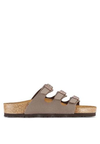 Birkenstock brown Florida Birko-Flor Nubuck Sandals BI090SH0RTI8MY_1