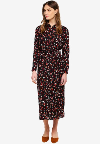 Vero Moda black Sabby Zigga 7/8 Shirt Dress 9FD81AAF0BC339GS_1