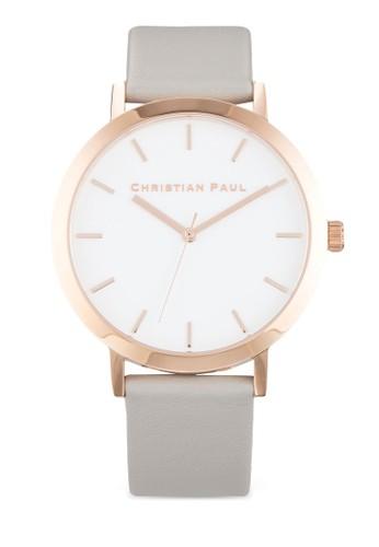 Raw  43mzalora開箱m 圓框皮革手錶, 錶類, 飾品配件