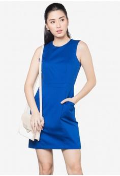 3aee236f7fb1 LA VIDA MODA blue Noelle Sleeveless Mini Dress LA201AA0JRQHPH 1