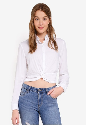 Cotton On white Harriet Twist Front Blouse 5E440AAB80E151GS_1