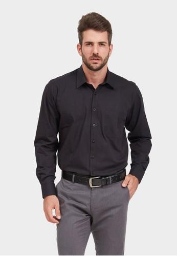 ARAMIS black ARAMIS Long Sleeve Solid Shirt 705220 47DCAAA09A8457GS_1