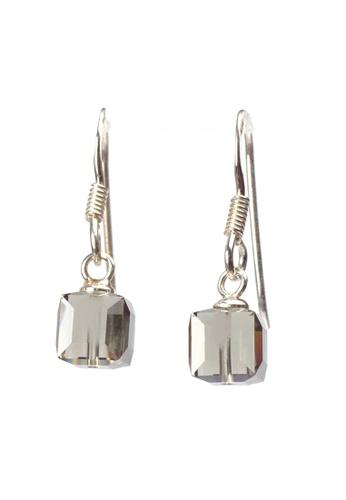 aa94ed64f Buy BOUTIQUEHK Sterling Silver Cube Crystal Earrings | ZALORA HK