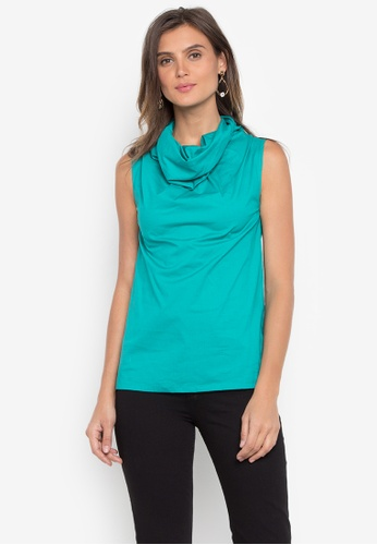CANVAS green SilvaniaTop  Sleeveless Cowl Neck DAD12AADFD6DCDGS_1