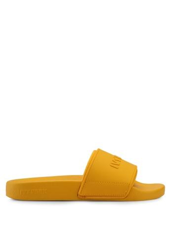 Ivy Park gold Embossed Logo Sock Slider B6193SH51EFE36GS_1