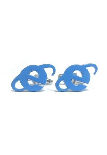 Splice Cufflinks blue IE Cufflinks  SP744AC68EMHSG_1