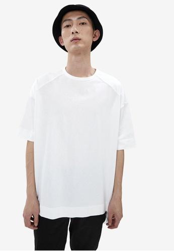 URBAN REVIVO white Hi Lo Hem T-Shirt F415DAA7394C7FGS_1